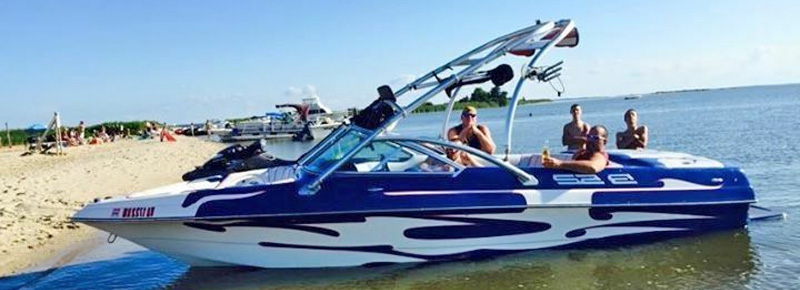 Wakeboarding Behind A Wakeboard Boat