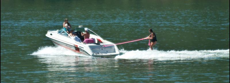 Wakeboarding Behind an I/O Boat