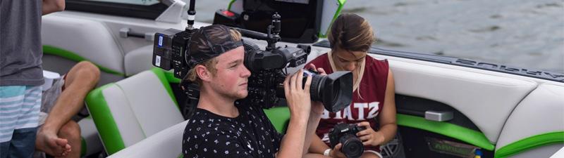 Wakeboard boat cameraman